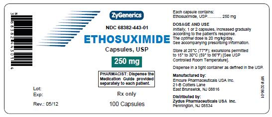 Structured formula for Ethosuximide-250mg