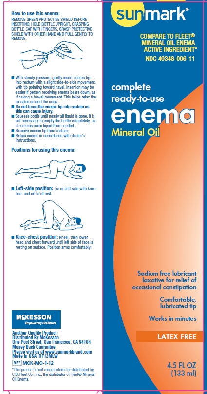 Sunmark Mineral Oil enema box principal display panel
