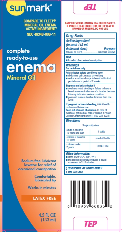 Sunmark Mineral Oil enema box side and back