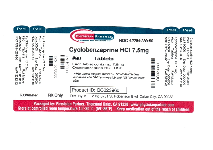Cyclobenzaprine HCl 7.5mg