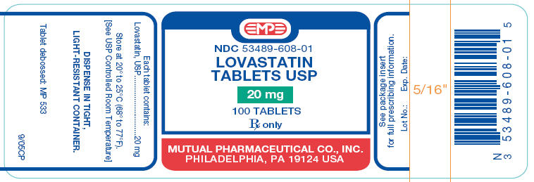 PRINCIPAL DISPLAY PANEL - 20 mg Tablet Bottle Label