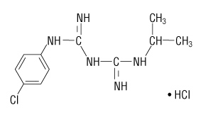 Structural Formula for Proguanil HCl