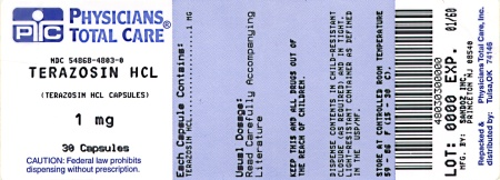 Terazosin Hydrochloride 1 mg Label