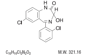 Chemical Structure for Lorazepam
