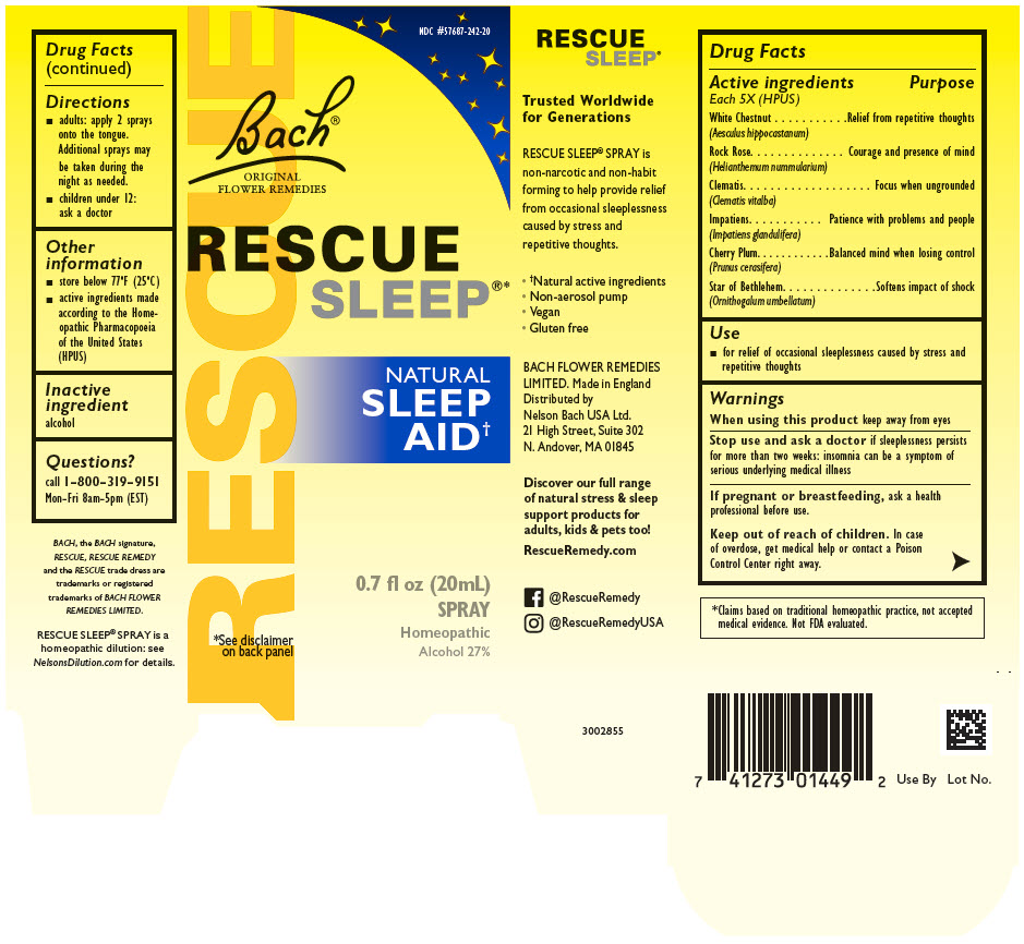 Rescue Sleep (Helianthemum Nummularium Flower, Clematis Vitalba Flower, Impatiens Glandulifera Flower, Prunus Cerasifera Flower, Ornithogalum Umbellatum, And Aesculus Hippocastanum Flower) Solution [Nelson Bach Usa, Ltd.]