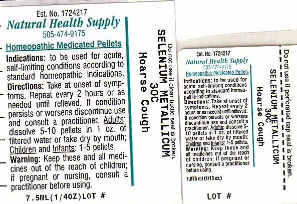 Hoarse Cough (Selenium) Pellet [Natural Health Supply]