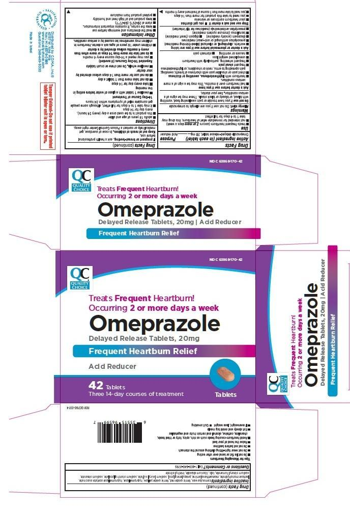 Quality Choice Omeprazole (Omeprazole) Tablet, Delayed Release [Chain Drug Marketing Association]