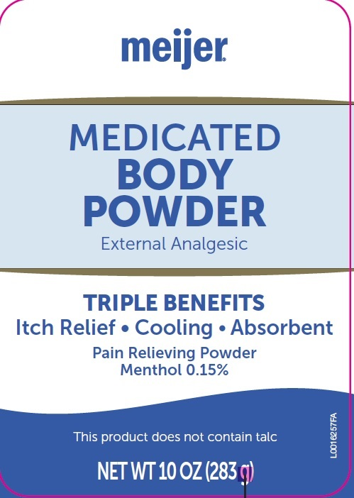 Body (Menthol, Zinc Oxide) Powder [Meijer Distribution, Inc]