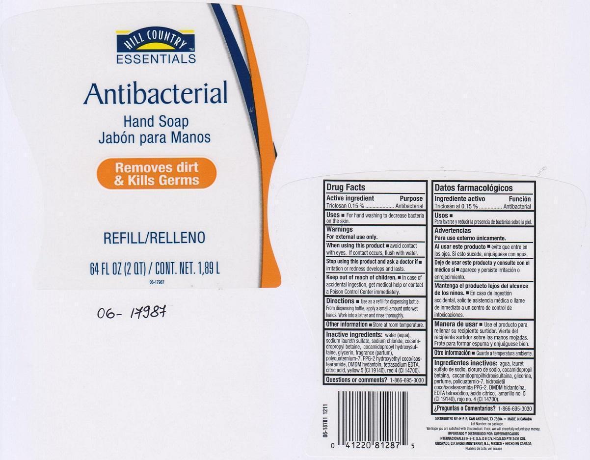 Hill Country Essentials Antibacterial (Triclosan) Liquid [H E B]