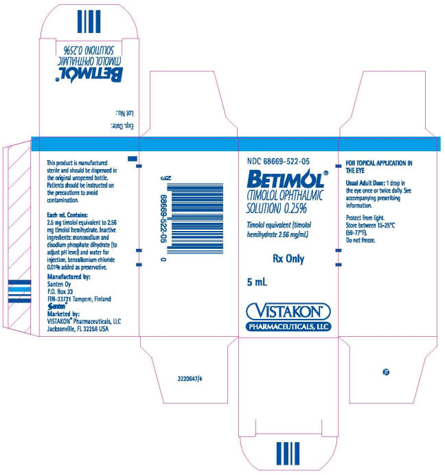 Betimol (Timolol) Solution [Vistakon Pharmaceuticals Llc]