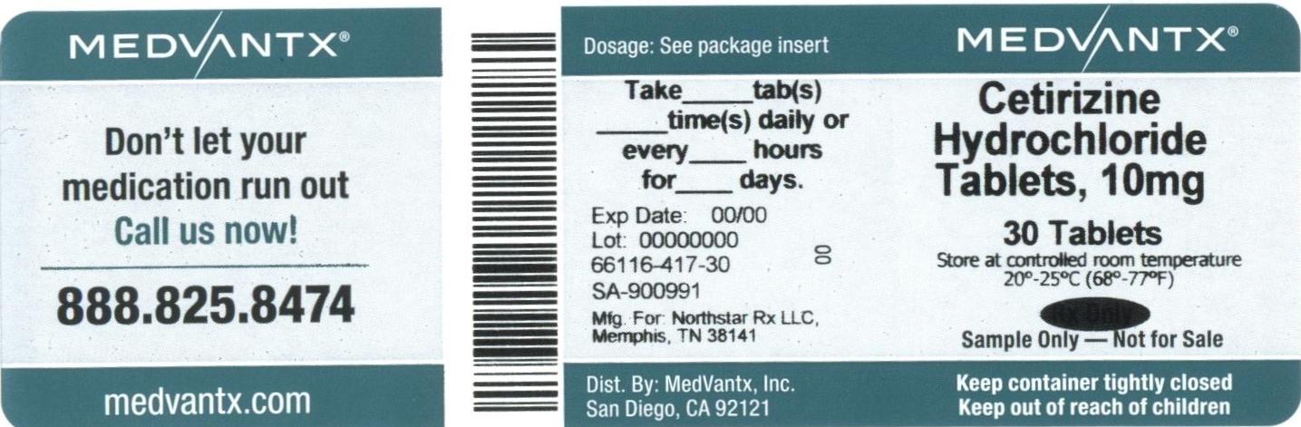 Cetirizine Hydrochloride Tablet, Film Coated [Medvantx, Inc.]