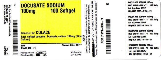 Docusate Sodium Tablet [Direct Rx]