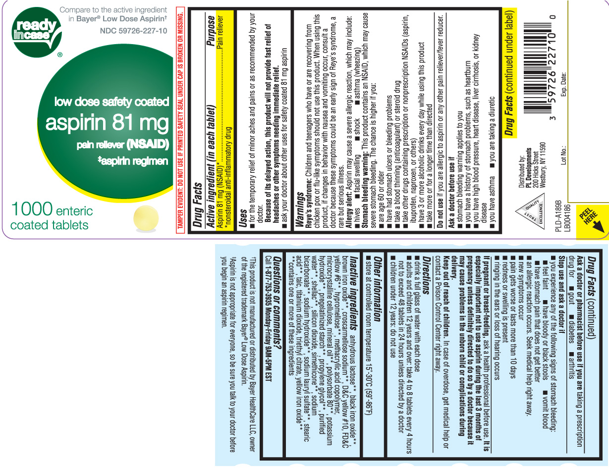 Aspirin Low Dose Safety Coated (Aspirin) Tablet [P And L Development Of New York Corporation (Readyincase)]