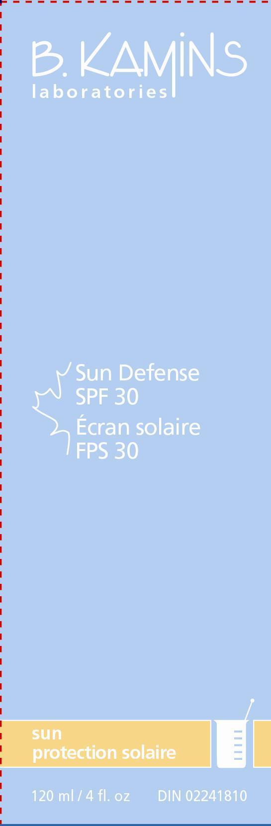 Sun Defense Spf 30 (Avobenzone Octinoxate Oxybenzone Titanium Dioxide) Lotion [Kamins Dermatologics Inc.]