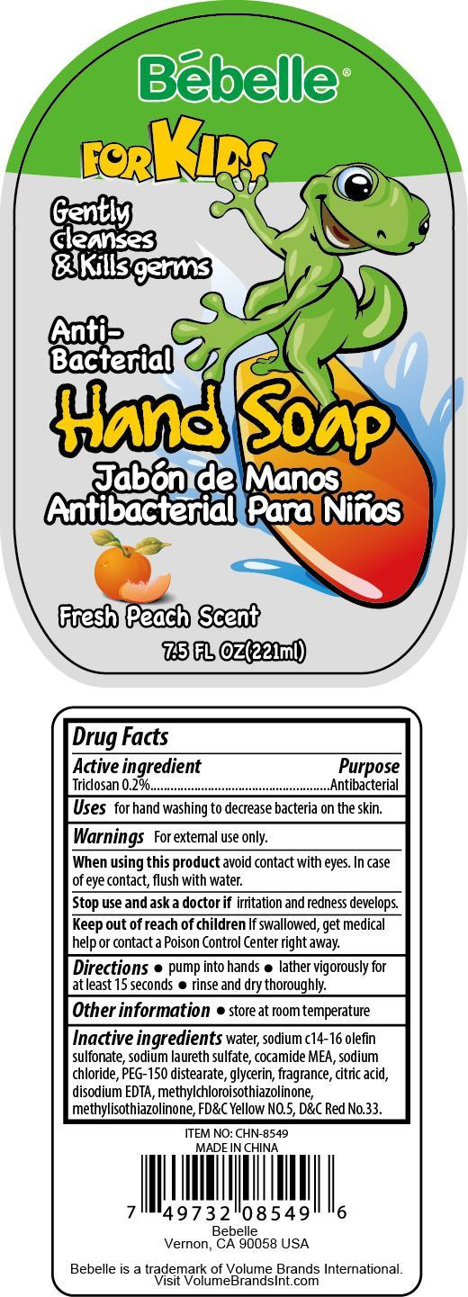 Hand Cleanse Fresh Peach Scent (Triclosan) Soap [China Ningbo Shangge Cosmetic Technology Corp.]