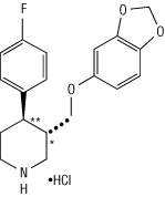 paroxetine hydrochloride chemical structural formula