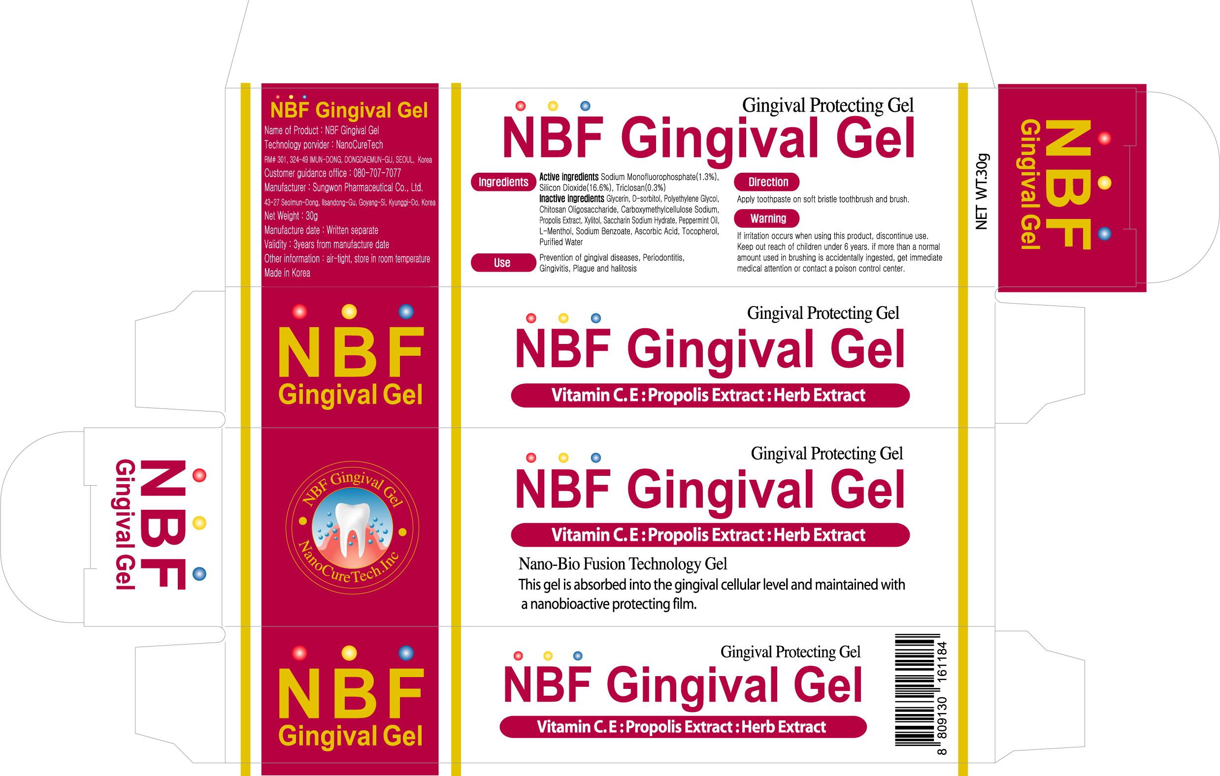 Nbf Gingival (Sodium Monofluorophosphate) Gel [Nanocuretech]