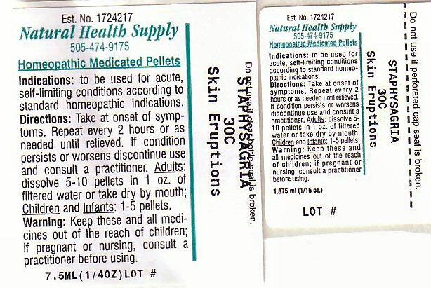 Skin Eruptions (Delphinium Staphisagria Seed) Pellet [Natural Health Supply]