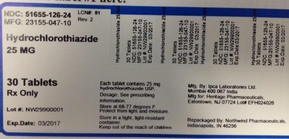 Hydrochlorothiazide Tablet [Northwind Pharmaceuticals, Llc]
