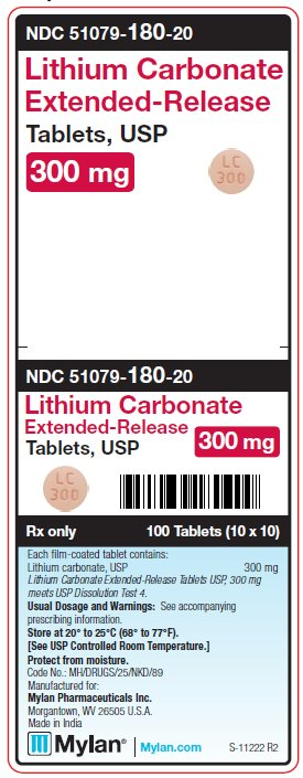 Lithium Carbonate Tablet, Film Coated, Extended Release [Mylan Institutional Inc.]