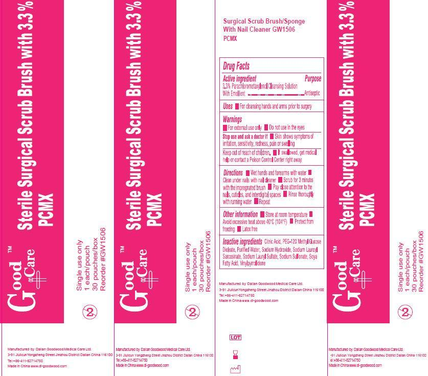 Good Care Sterile Scrub Brush With Pcmx (Chloroxylenol) Solution [Dalian Goodwood Medical Care Ltd.]