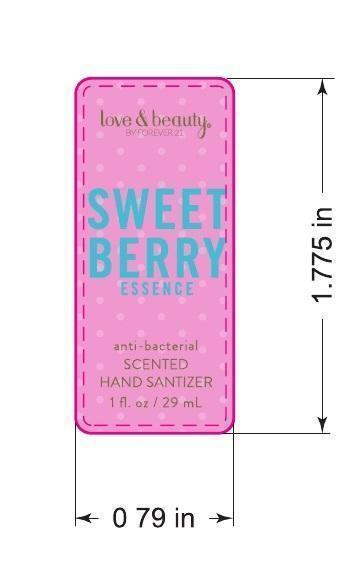 Love And Beauty Sweet Berry Essence Antibacterial Scented Hand Sanitizer (Ethyl Alcohol) Gel [Forever 21]