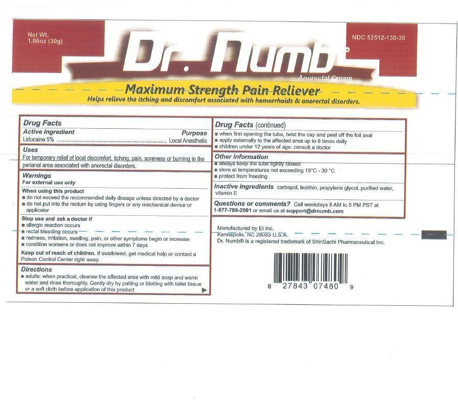 Dr. Numb (Lidocaine) Cream [Ei Inc.]