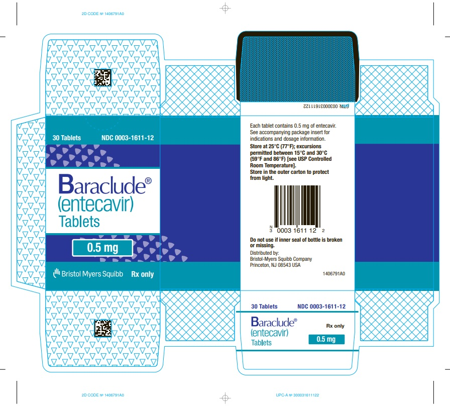 Baraclude 0.5 mg Tablet Bottle Carton