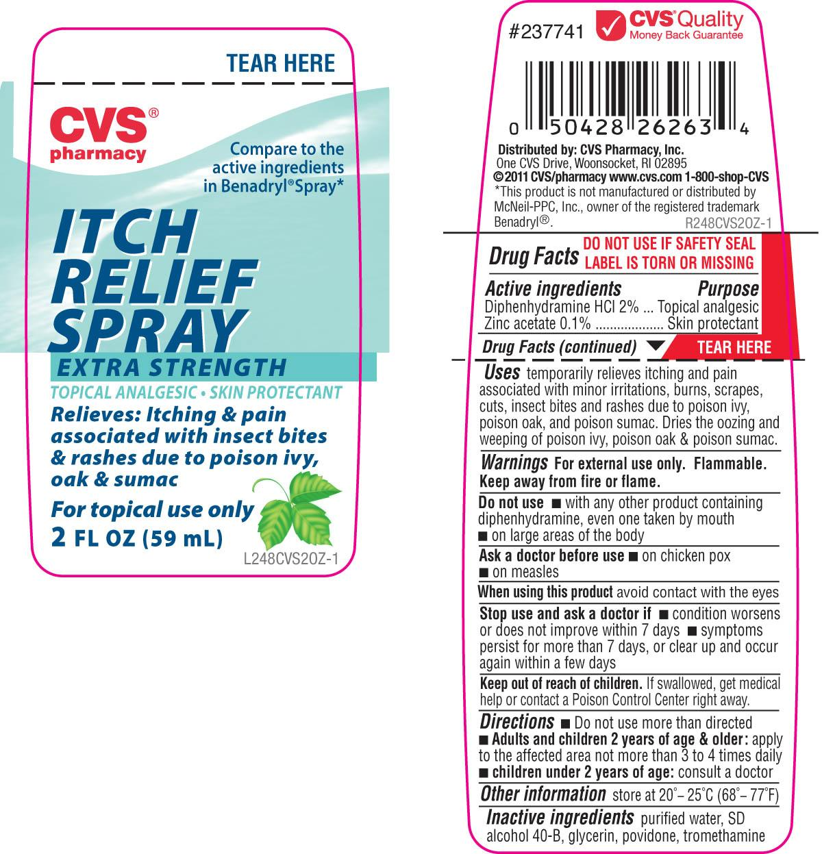 Cvs Extra Strength Itch Relief (Diphenhydramine Hydrochloride And Zinc Acetate) Spray [Cvs Pharmacy]