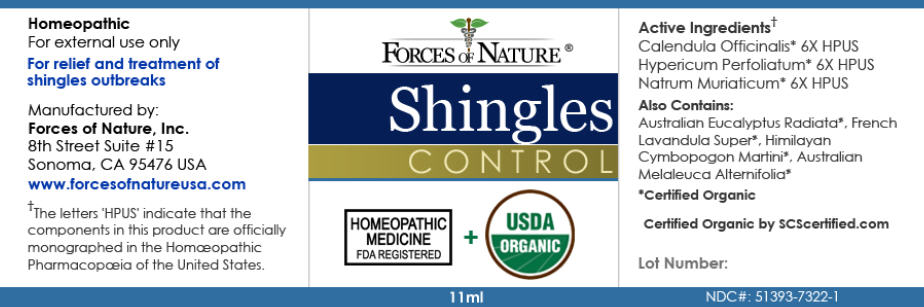 Shingles Control (Calendula Officinalis Flowering Top, Hypericum Perforatum, And Sodium Chloride) Solution/ Drops [Forces Of Nature]