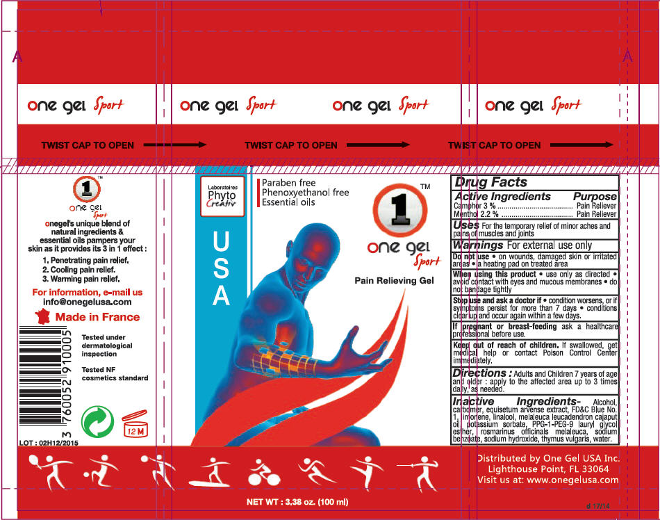 One Gel Sport Pain Relieving (Camphor (Synthetic) And Menthol) Gel [Phyto Creativ]