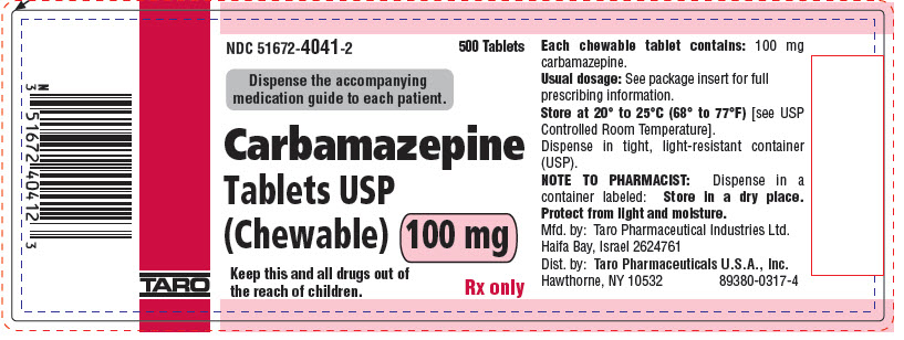 PRINCIPAL DISPLAY PANEL - 100 mg Chewable Tablet Bottle Label