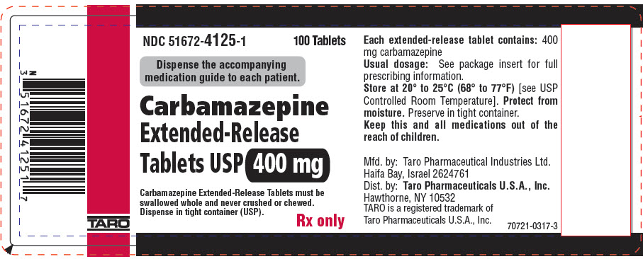 PRINCIPAL DISPLAY PANEL - 400 mg Extended-Release Tablet Bottle Label