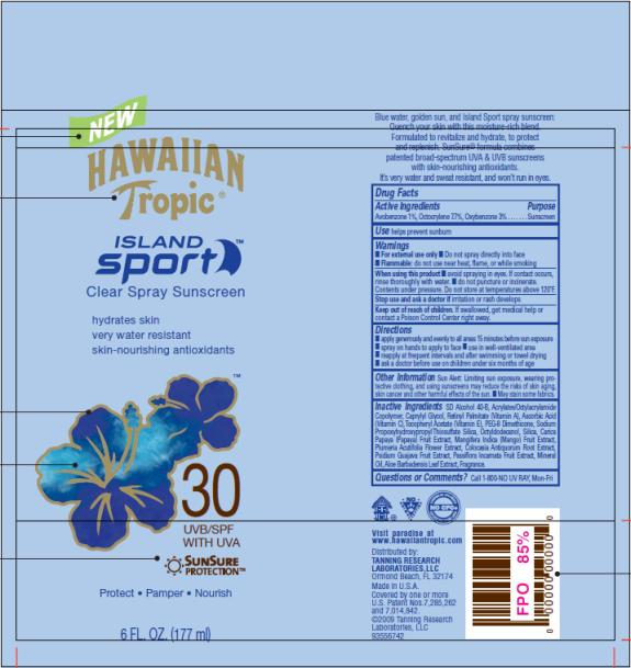 PRINCIPAL DISPLAY PANEL Hawaiian Tropic Island Sport SPF 30