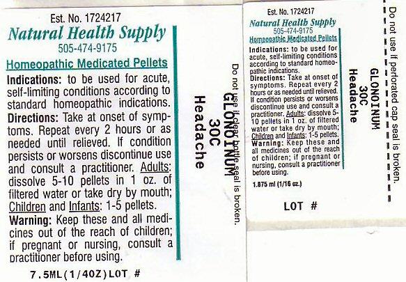 Headache (Nitroglycerin) Pellet [Natural Health Supply]