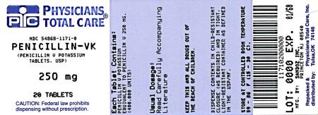 Penicillin-VK 250 mg Label