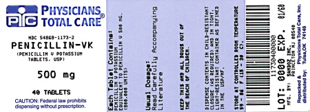 Penicillin-VK 500 mg Label