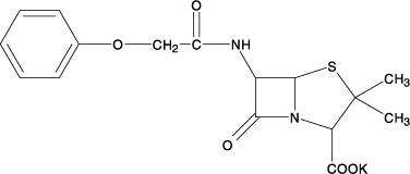 Penicillin V Potassium Chemical Structure