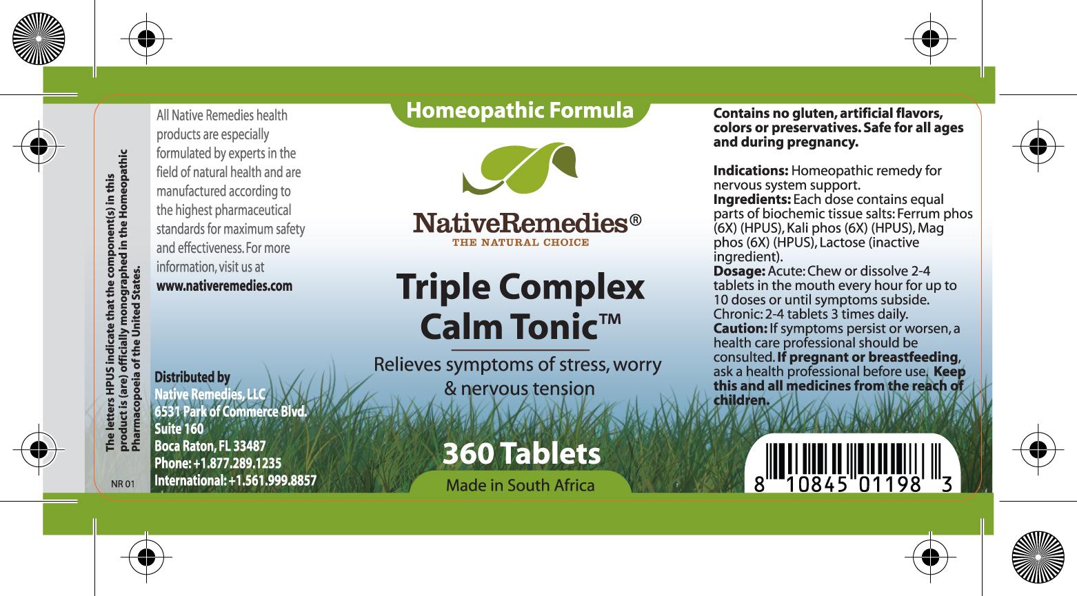 Triple Complex Calm Tonic (Ferrum Phos , Kali Phos, Mag Phos ) Tablet [Feelgood Health]