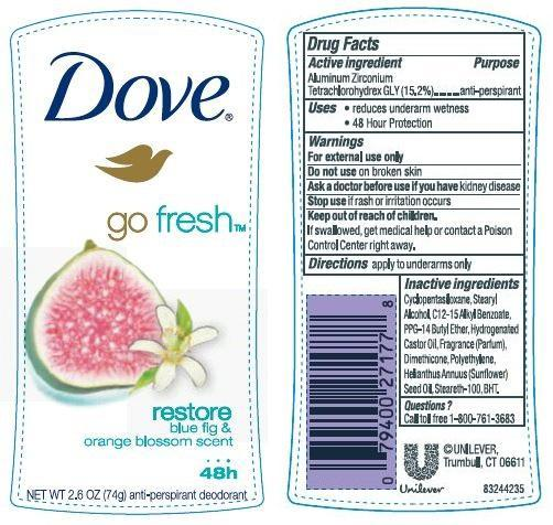 Dove Go Fresh Restore Antiperspirant And Deodorant (Aluminum Zirconium Tetrachlorohydrex Gly) Stick [Conopco Inc. D/b/a Unilever]