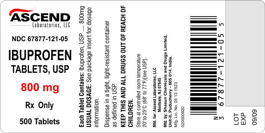 800 mg bottle label