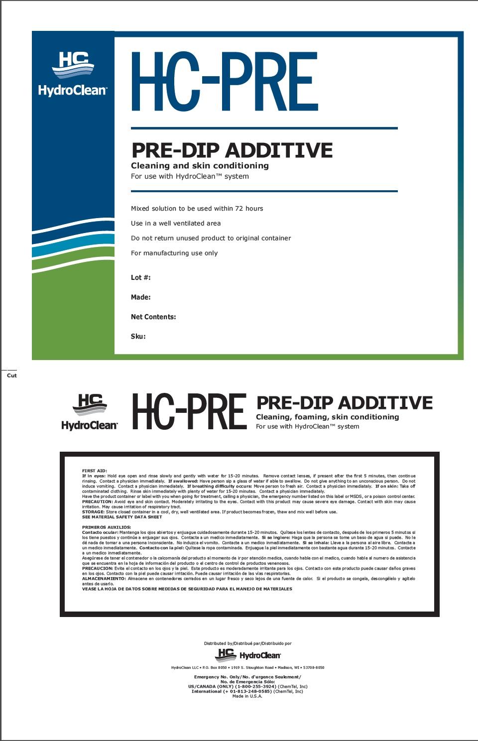 Hc-pre (Pre-dip Additive) Liquid [Hydroclean]