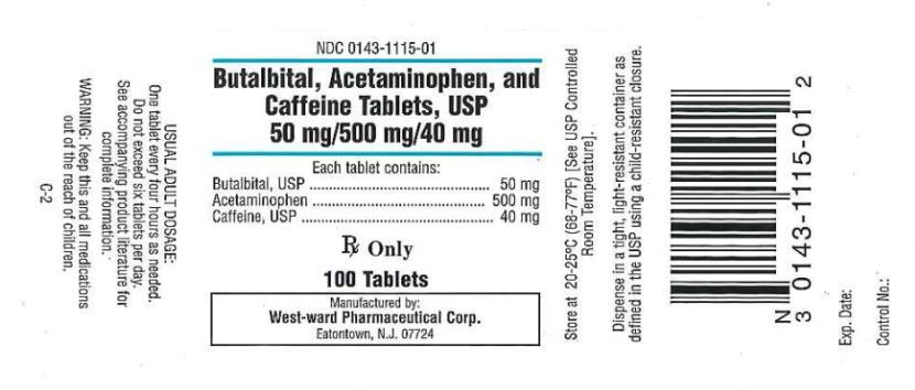 Butalbital, Acetaminophen, And Caffeine Capsule [West-ward Pharmaceutical Corp]