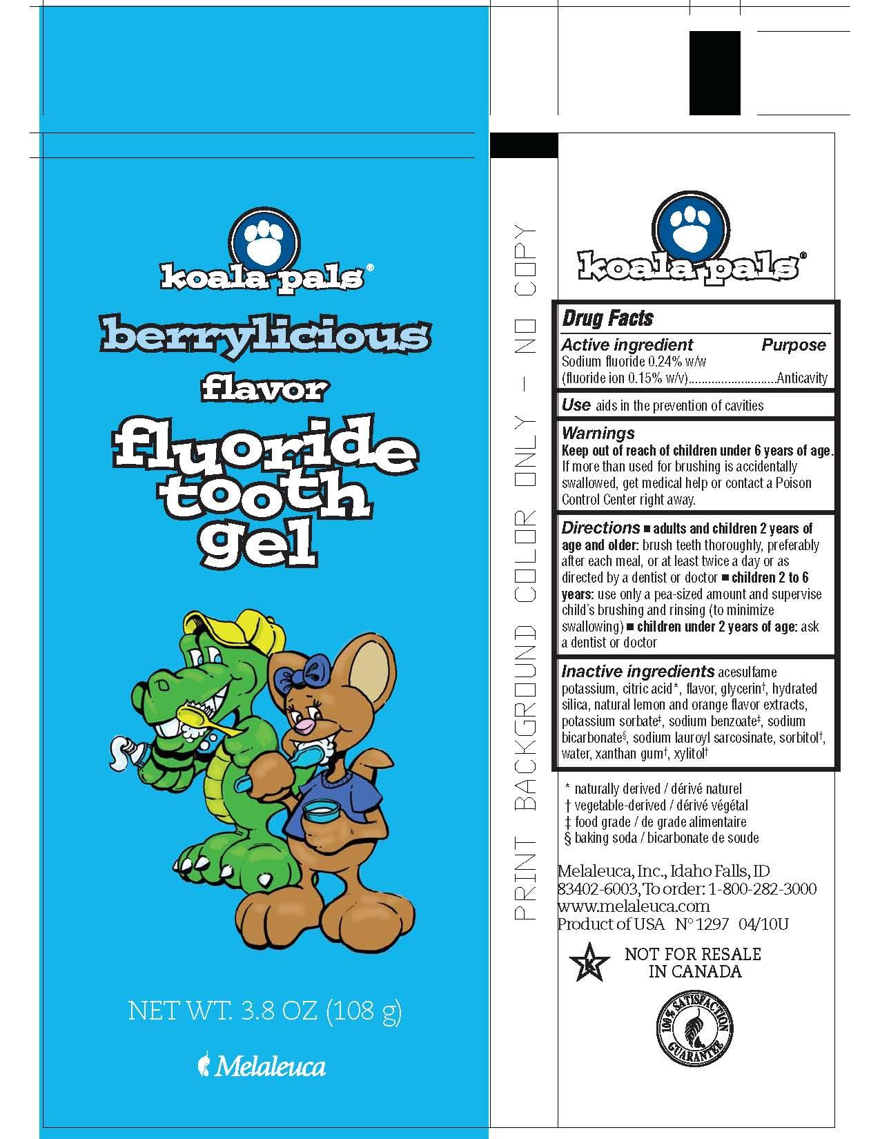 Koala Pals Berrylicious (Sodium Fluoride) Paste, Dentifrice [Melaleuca, Inc.]