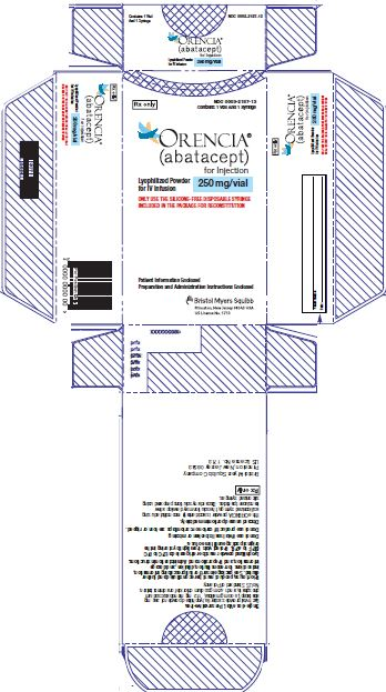Orencia (Abatacept) Injection, Powder, Lyophilized, For Solution Orencia (Abatacept) Injection, Solution [E.r. Squibb & Sons, L.l.c.]