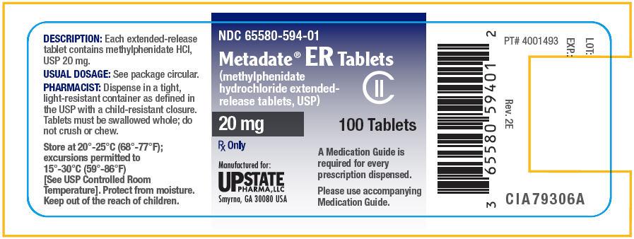 Metadate Er (Methylphenidate Hydrochloride) Tablet, Extended Release [Upstate Pharma, Llc]