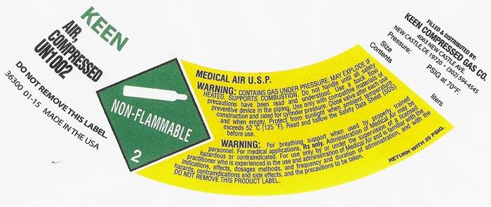 AIR COMPRESSED USP LABEL