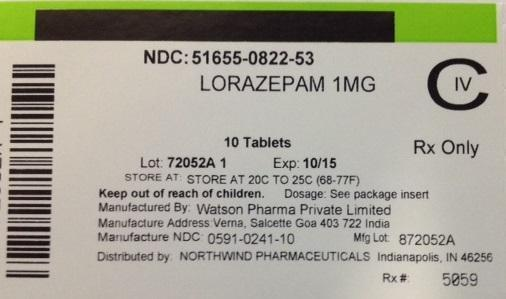 Lorazepam Tablet [Northwind Pharmaceuticals]