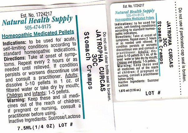 Stomach Cramps (Jatropha Curcas Seed) Pellet [Natural Health Supply]