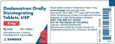 ondansetron ODT 8 mg 100s